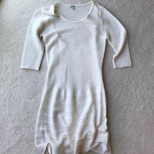 BB Dakota White Long Sleeve Dress Small